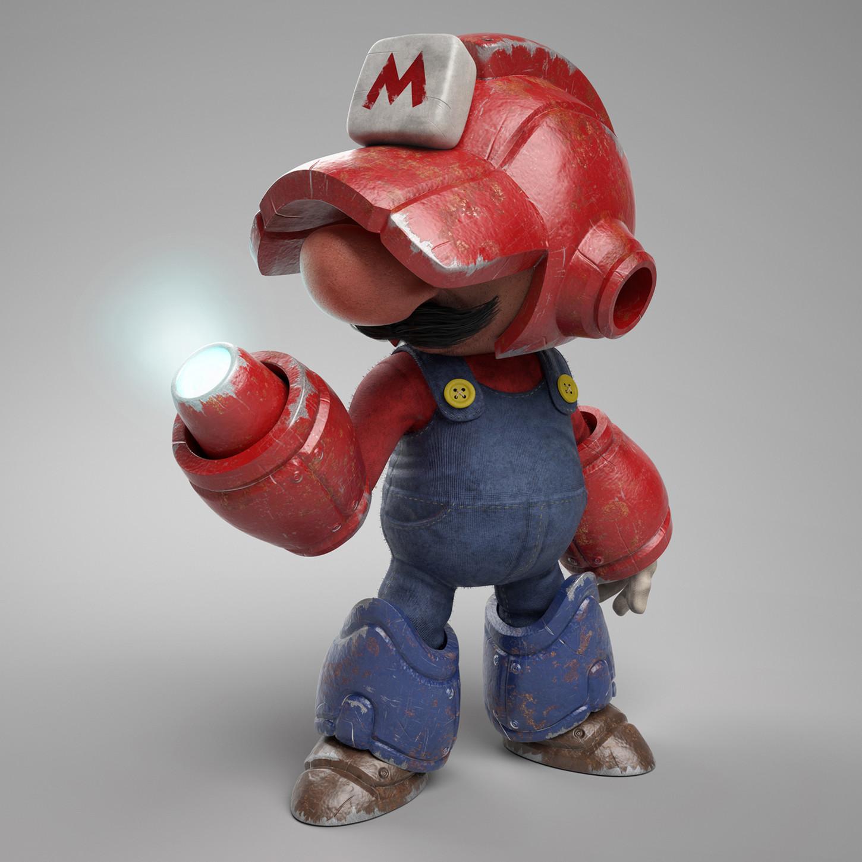 un-artista-digital-crea-el-mash-up-3d-definitivo-de-super-mario-y-mega-man-frikigamers.com