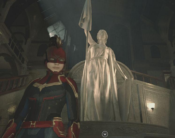 mira-como-jugar-como2-capitan-marvel-en-resident-evil-2-remake